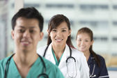 Team of Asian of doctors and nurses. — Stock Photo
