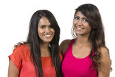 Två glada indiska kvinnor — Stockfoto