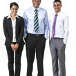 Stock Photo: Team of three happy Indibusiness people.