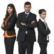 Team of three happy Indian business people. — Stock Photo