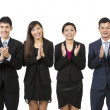 Happy Asian business team celebrating success. — Foto de Stock