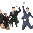 Tea, Of Chinese Business People jumping — Stock Photo