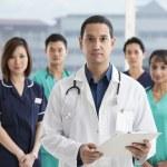 Team of Multi-ethnic medical staff — Stock Photo
