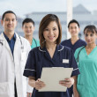 Team of Multi-ethnic medical staff — Stock Photo