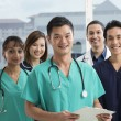 Team of Multi-ethnic medical staff — Foto Stock