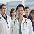 Team of Multi-ethnic medical staff — Foto de Stock