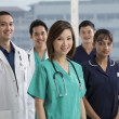 Team of Multi-ethnic medical staff — Stok fotoğraf