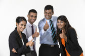 Team of happy Indian business people with Thumbs Up — Foto Stock
