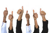 Indian business peoples Thumbs Up — Stock Photo