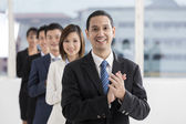 Happy Asian Business team — Stock Photo