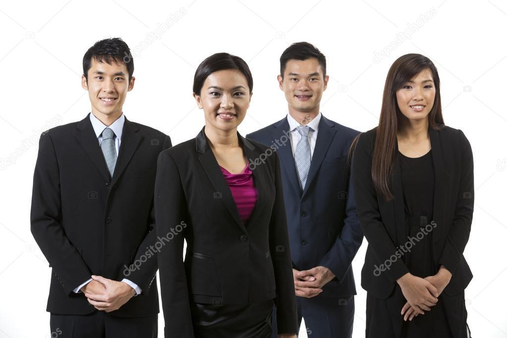 asian people exhibit