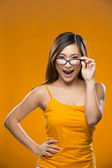 Portrait of suprised Chinese Woman. — Stock Photo