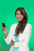 Stylish Indian Woman using a smart phone — Stock Photo