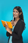 Portrait of happy Indian Business Woman. — Stock Photo