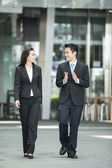Happy Asian Business people talking to each other. — Stock Photo