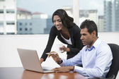 Indian business people having working together. — Stock Photo