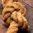 Stock Photo: Knotted Rope