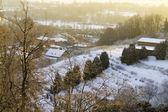 在清晨的雪坡 — 图库照片