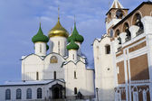 Transfiguration Cathedral and belfry of Holy Euthymius monastery — Stock Photo