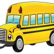 Funny school bus. - Stock Vector