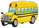 Funny school bus. — Stock Vector