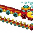 Vector de stock : Funny train.