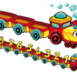 Royalty-Free Stock Imagen vectorial: Funny train.