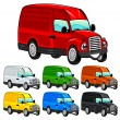 Stock Vector: Funny van.