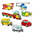Funny vehicles. - Stock Vector