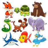 Set of animals. — Stock Vector