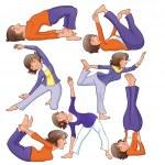 Yoga Positions. — Stock Vector