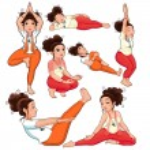 Yoga Positions. — Stock Vector #16337323