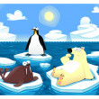 Stock Vector: Polar scene