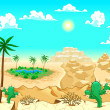 ������, ������: Desert with oasis