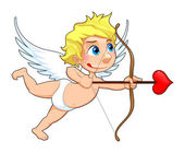 Funny Cupid. — Stock Vector