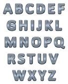 Metallic alphabet. — Stock Vector