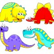 Royalty-Free Stock Vector Image: Dinosaurs Family.