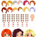 Fashion female avatars. — Stock Vector