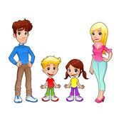 Funny family. — Stock Vector