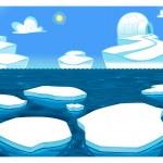 Polar scene. — Cтоковый вектор #30944667
