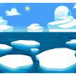 Stock Vector: Polar scene.