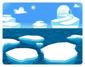 Polar scene. — Stock Vector