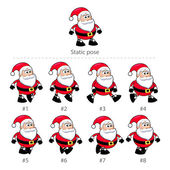 Santa Claus walking frames. — Stock Vector