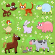 Stock Vector: Farm animals.