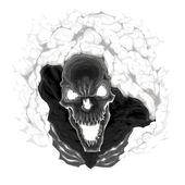 Black skeleton. — Stock Vector