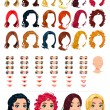 Fashion female avatars. — Stock Vector