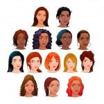 Vector isolated avatars. — Stock Vector #40843593