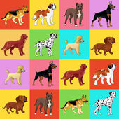 Set of dog with background. — Stock Vector