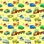 Funny vehicles with background.  — Vector de stock
