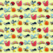 Funny insects with background.  — Cтоковый вектор
